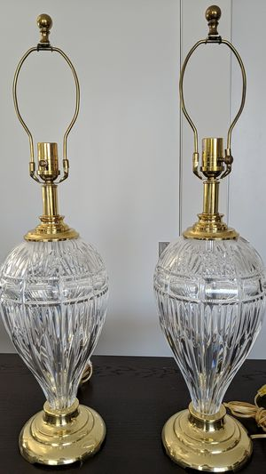 Pair of Waterford Crystal Lamps, no shades for Sale in Seattle, WA