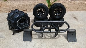 Rc traxxas basher wheels and rack for Sale in Highland, CA