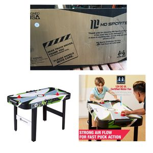 """MD Sports 48"""" Air Powered Hockey Table, LED Electronic Scorer, Black/Green for Sale in Stafford, TX"""
