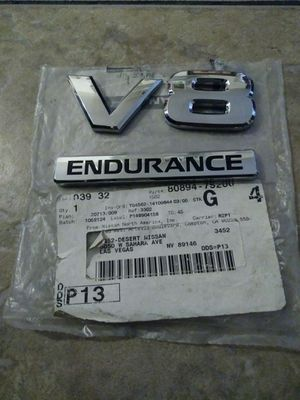 NEW OEM Nissan Titan Armada V8 Endurance Emblem for Sale in Las Vegas, NV