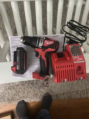 Milwaukee hammer drill/driver new never used $170 dollars for Sale in Boston, MA