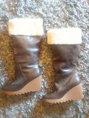 Michael Kors Shearling Wedge Boots for Sale in Murray, UT