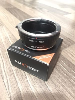 NEW K&F Concept Lens Mount Adapter Compatible with Canon EOS Lens to Sony Alpha Nex E-Mount Camera Body,fits for Sony NEX-3, NEX-5, NEX-5N, NEX-7, NE for Sale in Rosemead, CA