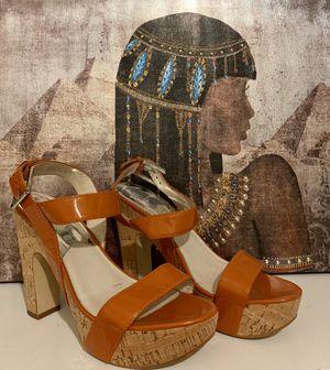 MICHAEL KORS Orange/Cork design wedge Sandal for Sale in Winter Haven, FL