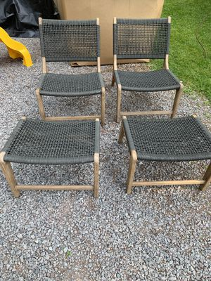 Club chair and ottoman for Sale in Philippi, WV