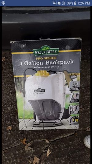 Ground Works Pro Series Backpack Sprayer 4Gal. for Sale in Sunbury, OH