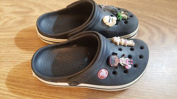 Black Crocs kids size 11