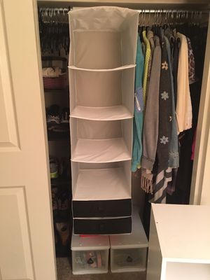 Closet hanging fabric storage for Sale in Bethesda, MD