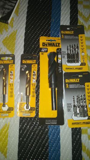 Dewalt drill bits for Sale in Redlands, CA