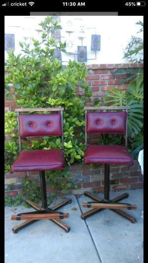 Cleo Baldon stools chairs Vintage metal and wood for Sale in Orange, CA
