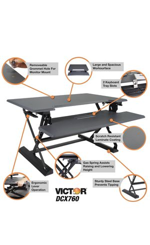 "Victor DCX760 Height Adjustable Standing Desk with Removable Keyboard Tray 36"" Wide Standing Desk for Sale in Flower Mound, TX"
