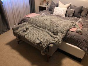 Grey hand woven throw blanket for Sale in Auburn, WA