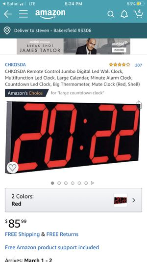 Led clock NEW for Sale in Bakersfield, CA