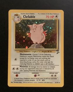 1996 - 2000 Clefable Holo Rare - Played/Lightly Damaged for Sale in Humble,  TX