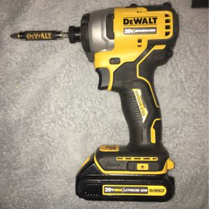 DeWalt drill impact 20 V Max lithium ion brushless no charger for Sale in Levittown, PA