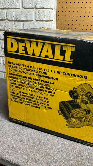 DeWalt Heavy Duty 4 Gal Contractor Air Compressor for Sale in Oklahoma City, OK