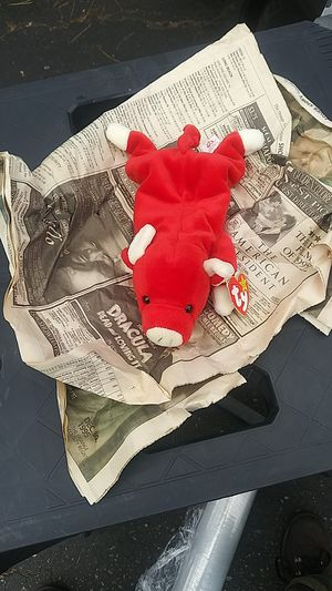 Rare beanie baby Snort the red bull! Errors!Pvc pellets!... for Sale in Buena Park, CA