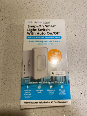SimplySmartHome snap on smart light toggle switch for Sale in Camas, WA