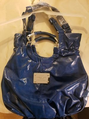 Blue leather tote bag for Sale in Midlothian, IL