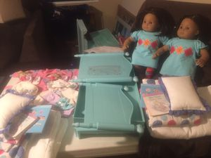 American Girl dolls brown skin twins rare for Sale in Carrollton, TX