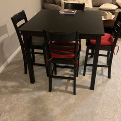 High Black Table With 4 Chairs for Sale in North Liberty,  IA