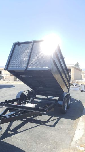BRAND NEW HEAVY DUTY DUMP TRAILER 8X12X4 YEAR 2020 FOR ANY QUESTION TEXT ME ANY TIME HABLO ESPAÑOL. for Sale in Los Angeles, CA