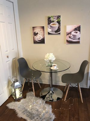 Small glass dining table with 2 chairs for Sale in Nashville, TN