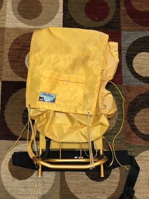 Vintage World Famous Mont Blanc No 238 Aluminum Frame Hiking Backpack Yellow for Sale in Henrico, VA