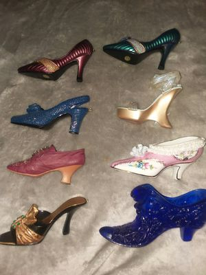 Glass collectible high heel knick knacks for Sale in Orlando, FL