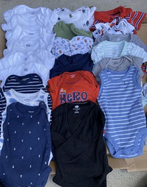 Baby Boy Clothes size Newborn and Diaper Carrier for Sale in Yorba Linda, CA