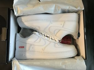Supreme Air Force 1 low white box logo size 10 10.5 new for Sale in Santa Ana, CA