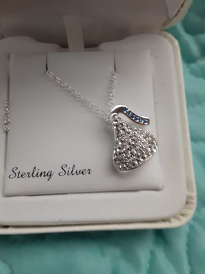 Sterling silver Hershey kiss necklace for Sale in Fontana, CA