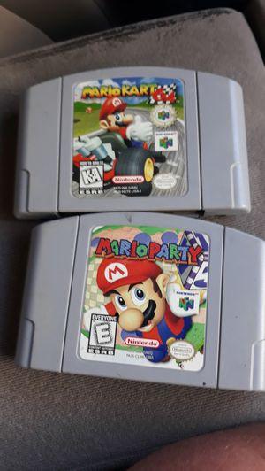Nintendo 64 Mario Party and MarioKart for Sale in Flagstaff, AZ
