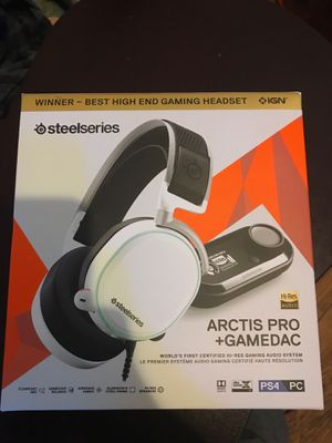 Steel Series Hi-Res Audio Gaming Headphones with GameDac for Sale in Detroit, MI