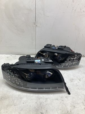 For 2005-2008 Audi A6 s6 led headlights headlamps black housing halo for Sale in Chino Hills, CA
