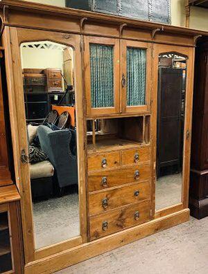 """#34283 Antique Art Nouveau 25.5"""" x 81"""" x 80"""" 5-Piece Armoire for Sale in Oakland, CA"""
