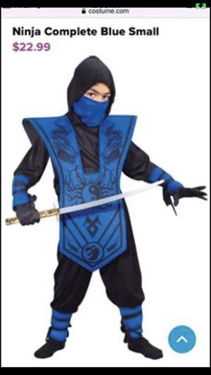Kids Blue Ninja Costume - the Vest and Sword only - Boys Halloween for Sale in Sterling, VA