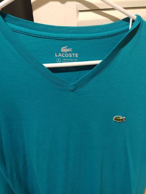 Lacoste new never worn Teal soze 5 V neck for Sale in Saint Petersburg, FL