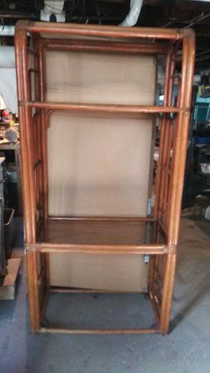 Wicker shelf / cabinet for Sale in Danvers, MA