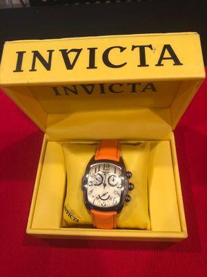 Invicta Lupah dragon watch orange leather strap for Sale in Bartow, FL