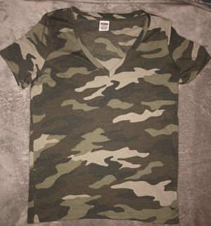 victorias secret pink everyday camo T-shirt size Large New for Sale in Douglasville, GA