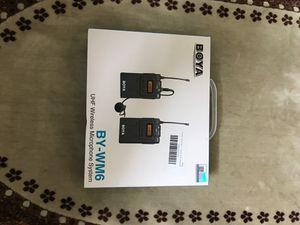 Boya BY-WM6 UHF Wireless Lavalier Microphone System for Sale in Stockton, CA