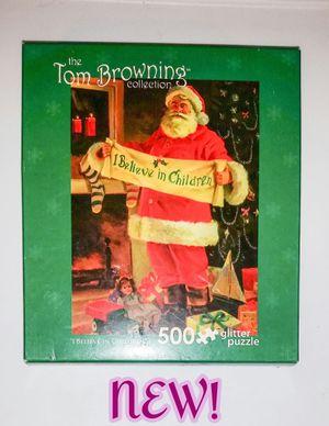 New! 500 piece Santa Glitter Puzzle for Sale in Romeoville, IL