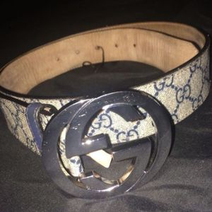 Gucci x Supreme Belt, Beige&blue for Sale in Azusa, CA