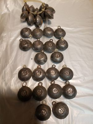 30 pieces of lead fishing weights 2.5 ounce each. for Sale in Stockton, CA