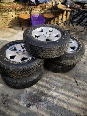 JEEP JK RIMS AND TIRES for Sale in Washington, DC