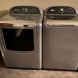 WHIRLPOOL CABRIO PLATINUM HE XL WASHER AND ELECTRIC DRYER PAIR ✅✅ 1 YEAR WARRANTY for Sale in Pasadena, TX