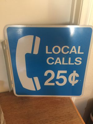 Vintage Sign Local Calls for Sale in Ontario, CA