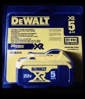 BRAND NEW IN PACKAGING DEWALT 20V MAX LITHIUM ION XR 5AH BATTERY 🔋 (2 AVAILABLE) ❗️ for Sale in Garland, TX