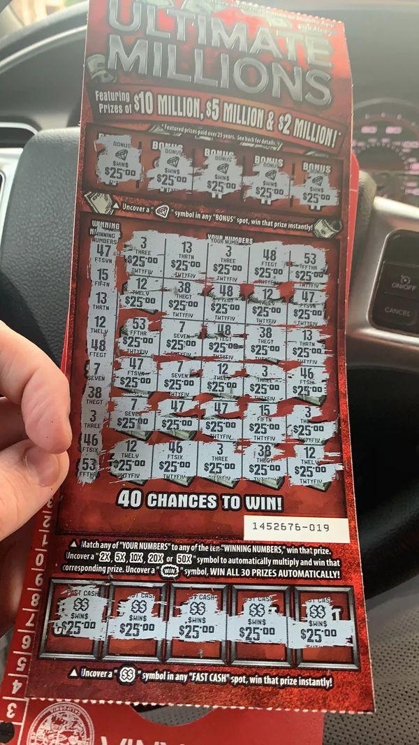 $1000 winning lottery scratcher